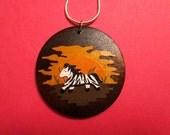 RESERVED Custom Order for ZIBA - Papercut Zebra Necklace