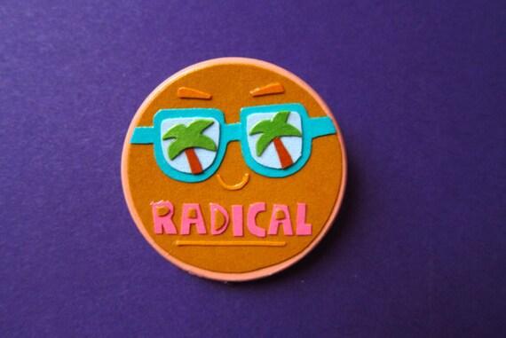 RADICAL BEACH PARTY papercut pin