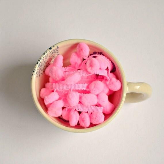 Sugar Babe, Pink, Pom Pom Trim - Ball Fringe - 3 yards