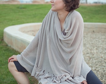 Knitted Soft Shawl - Big Wrap Dress - Woman Clothing Plus - 083