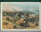 Sheridan's final charge ORIGINAL Civil War Winchester war Print American Litho ca 1886
