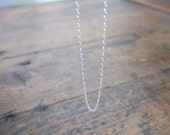 "16"" sterling silver chain"