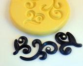 SWIRLS Mold Flexible Silicone Mold Kawaii Decoden Flatback Flat Back Cake Making Swirls