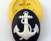 ANCHOR Cameo Mold Flexible Silicone Kawaii Decoden Flatback Flat Back Mould 30 x 40 mm