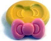 BOW Mold Flexible Silicone Mold Kawaii Decoden Flatback Flat Back Hello Kitty Bow