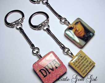 Keychain Silver Snake Key Chain Steel Nickel Plated (pendants sold separately)