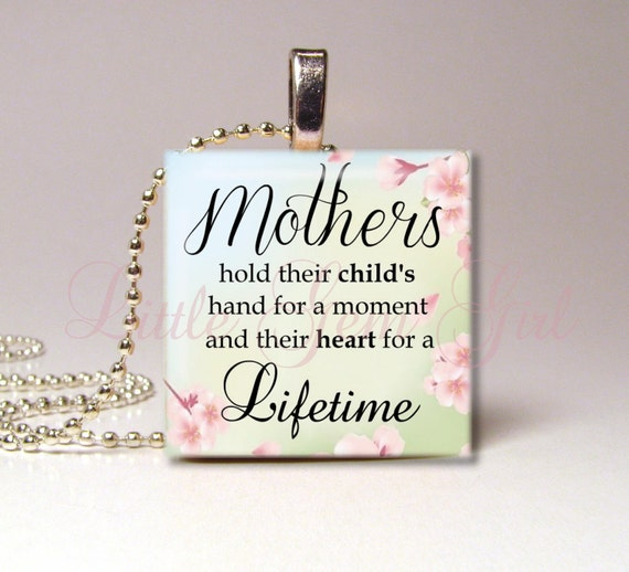 Mothers Day Poem Quote Necklace Pendant Mothers By