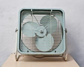 Mint Green Box Fan