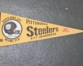 Pittsburgh Steelers Super Bowl XXI Pennant 1979