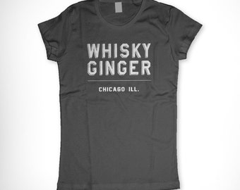 Whisky Ginger Shirt Whiskey Lover Heather Gray Grey T Shirt XL Women