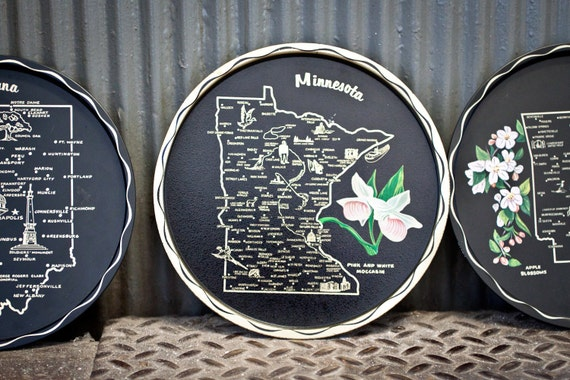 SALE - State of Minnesota Metal Plate Tray Souvenir