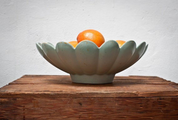 Mint Green Fruit Serving Bowl