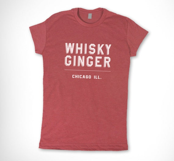 Women Extra Large - Whisky Ginger Brand Heather Red T Shirt