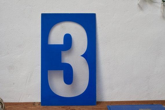 Plastic Number 3 Sign