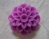 Vintage Acrylic Cameo...Created  Dahlia Button - Lavender - 20mm