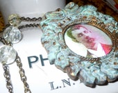 Midnight In London-- Victorian Vampire Assemblage Necklace Handmade by Sinful Solace - Creepy - Macabre