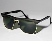 Black And Gold Clubmaster Sunglasses A17