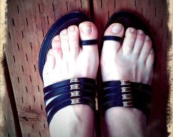 FLIPS   ///    Leather Italian Sandals