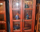 Reserved for R1150GS Victorian Mahogany 2 domed cabinet/china cabinet/mahogany bookcase
