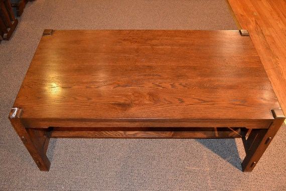 Arts And Crafts Mission Oak Coffee Table By Oakparkantiques