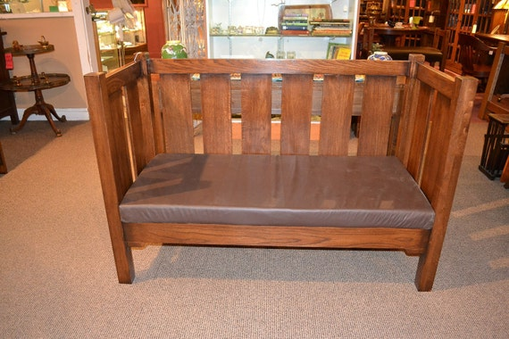 arts and crafts mission oak sofa mission love by. Black Bedroom Furniture Sets. Home Design Ideas