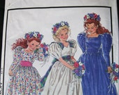 Girls Sewing Pattern for a Beautiful Bridesmaid or Party Dress size 3 - 9