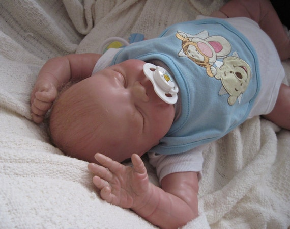 """Reborn Baby """"Libby"""" by Cindy Musgrove as Baby Boy.  Beautiful Chubby Sweetheart With Micro-Rooted Hair. Looks and Feels So Real."""