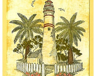 Vintage Lighthouse Greeting Card