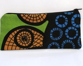 Pencil case mostly black and blue 121411