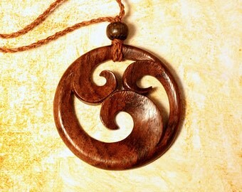 Wooden Necklace - Ninfa Pendant - PD6