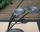 """Iron Nature Sculpture """"Baby Lily Pads in the Current"""""""