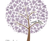 Wedding Tree with Love Birds Guest Book Alternative Poster, Wedding Gift, Personalized with Your Own Colors, 13x19