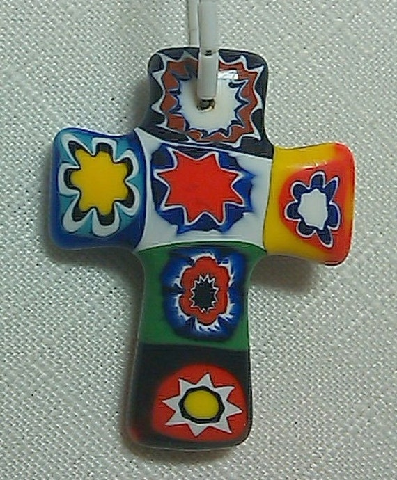 Protestant/Anglican Prayer Beads with Authentic Vintage Venetian Millefiori Cross and Beads,  PB07