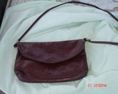 Burgundy crossover vintage handbag