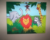 Jungle Animals Painting