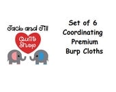 Set of 6 Premium Burp Cloths