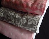 Premium Baby Burp Cloth Set- Pink and Gray