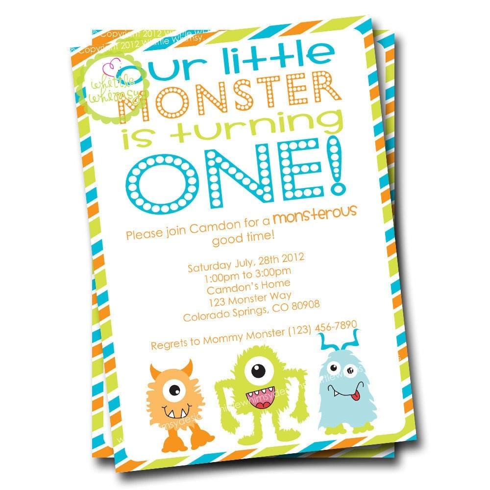 Monster Birthday Party Invitations is nice invitations sample