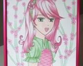 Art Frame - Anime / Manga Cherry Blossom / Sakura Glitter Girl