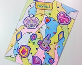ACEO - My Little Pony G4 Diamond Rose Stickers & Original Abstract Glitter Design