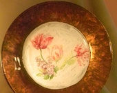 Decorative Plate Flowers decoupage