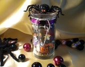 Purple, Black, and Orange Halloween Decoration Wish Stones