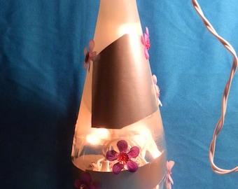 Spring Time Decorative Flower Bottle Lamp