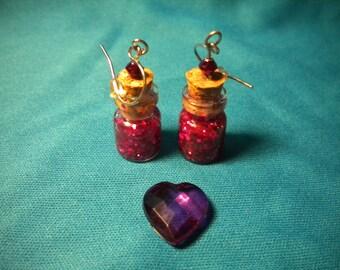 Love Potion Vial Earrings
