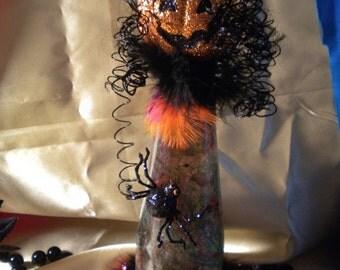 Halloween Decoration Mindy the Daughter Scarecrow Pumpkinhead