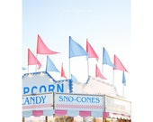 Sno-Cones - fine art photography print funfair carnival rides pink blue romantic sweet bazaar festival market Cotton Candy