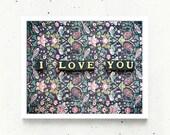 Love Language - fine art photo print romantic message letter word gift affection attraction desire care Eros cupid lover devotion card woman