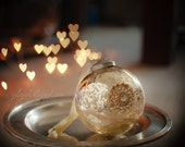 Christmas Ball - holiday decor photo print festive gift merry heart bokeh tree ornament magic  Santa Claus Noël Xmas joy celebration
