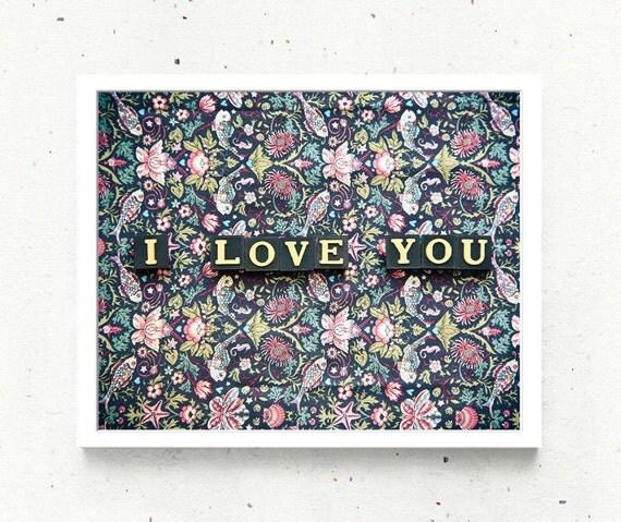 Love Language Fine Art Photo Print Romantic Message Letter