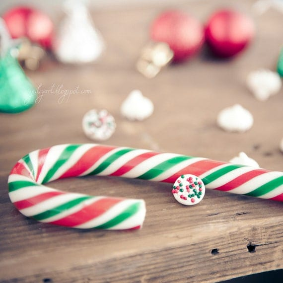 Christmas Candy Cane - holiday decor fine art photo print sweet treat romantic shabby gift for her hostess love celebration party candy